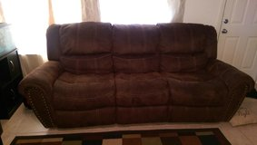 Used Sofa with Dual Recliners in League City, Texas