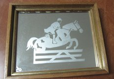 Jumping Horse Mirror (Etched) (Hunter Jumper?) in Conroe, Texas