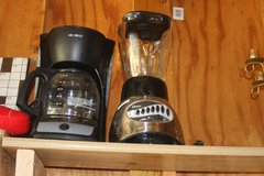 coffee pot, blender, spagetti jar, carving knife, beverage tub in Springfield, Missouri