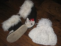 sz 6 toddler Gymboree  boots and knit cap in Kingwood, Texas