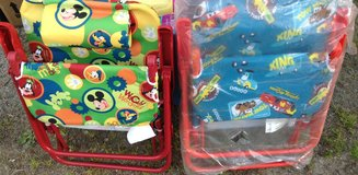 Disney Mickey and Cars lounge chairs for kids in Camp Lejeune, North Carolina