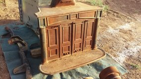 cast iron fire place (reduced) in Alamogordo, New Mexico