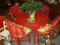 Red Wicker Table and Chairs in Goldsboro, North Carolina