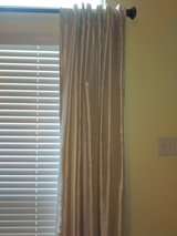 modern gold curtains in The Woodlands, Texas