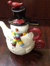 Snowman Tea Set For One in The Woodlands, Texas