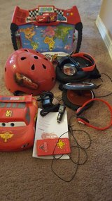Cars Dvd player,CD player, Bike Helmet, World map game. in Fort Bliss, Texas