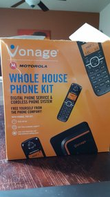 Vonage telephone set in Fort Bliss, Texas