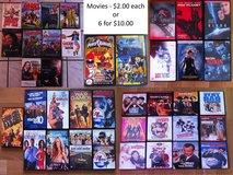 Movies - $2.00 each or 6 for $10.00 in Stuttgart, GE