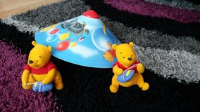 Winnie The Pooh light shade & tie backs in Lakenheath, UK