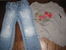 24 mos/2T distressed jeans/top in Kingwood, Texas
