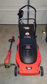 Electric mower and trimmer in Hinesville, Georgia