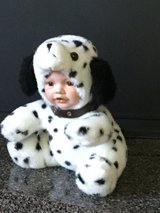 Porcelain faced doll in Dalmatian costume in Morris, Illinois