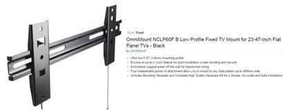 TV Mount - OmniMont NCLP6OF Low Profile Fixed TV Mount for 23-47 Inch Flat Panel TV in Shreveport, Louisiana