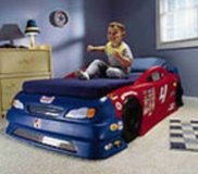 Boys RACE Car BED & Room decor & bedding, valances in Baytown, Texas