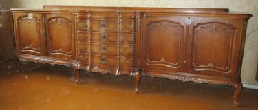 Antique Chippendale Sideboard with Marble  shelf and  4 Drawers in Ramstein, Germany