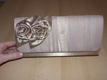 beige silk clutch with roses in Ramstein, Germany
