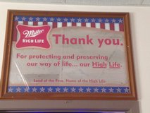 Miller High Life  - Thank You Veterans Mirror - Reduced in Joliet, Illinois