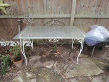 Vintage wrought iron patio table in Cleveland, Texas