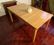 Extendedable Solid Wood Butcherblock Table in Ramstein, Germany