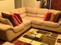 2 PC Microfiber Sectional in excellent condition in Fort Rucker, Alabama