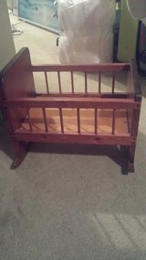 wooden doll cradle in Lockport, Illinois