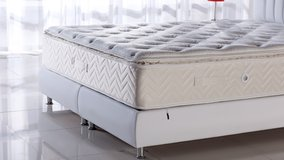 King Size Foam Memory Pillowtop Mattress - monthly payments possible in Lakenheath, UK