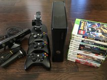 XBox 360/Kinect/Mic/Controllers/Charger/Games in Conroe, Texas
