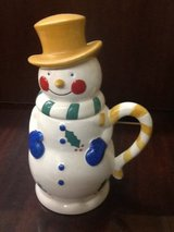 Temptations by Tara Snowman 24 oz Coffee Mug LARGE Cup Tophat Mittens Ovenware in Houston, Texas