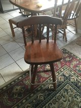 Wood bar stool in Fort Campbell, Kentucky