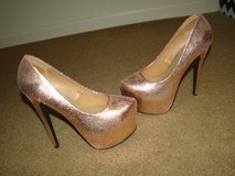 Gold Platform Heels in Alamogordo, New Mexico