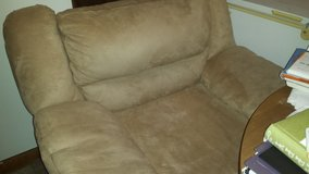 cream with leather bottom microfiber chair in Camp Lejeune, North Carolina