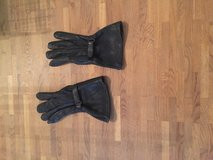 Leather motorcycle gloves in Spangdahlem, Germany