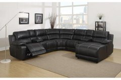 Johnny Sectional  -  Chaise on Right or Left Side..- Dark Brown - Black - Whitr. in Ansbach, Germany