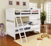 White Bunk Bed also as Triple Sleeper - monthly payments possible in Ansbach, Germany