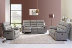 Edmond - dual voltage electric recliner set in Leather including Delivery in Ansbach, Germany