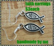 FAITH EARRINGS HANDMADE BY ME in Fort Benning, Georgia
