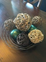 Wire bowl with decorative balls in Chicago, Illinois