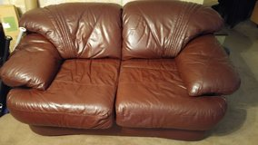 Leathery Love Seat in Alvin, Texas