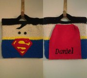 Handmade Crochet Superman Bag in Tacoma, Washington