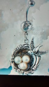 Birds nest belly ring in Camp Lejeune, North Carolina