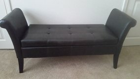 Leather bench with storage in MacDill AFB, FL