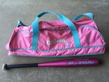 Girl's Wilson Bat Bag (sold) and matching Bat in Shorewood, Illinois