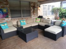patio conversation pit in Houston, Texas