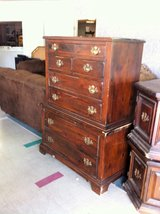 Heavy Solid Wood Tall Chest Of Drawer Dresser in Fort Polk, Louisiana