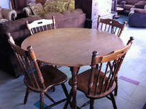 Wood Kitchen Table and Chairs in Fort Polk, Louisiana