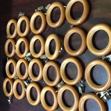 Wood Curtain Rings - 23 pcs in Spring, Texas