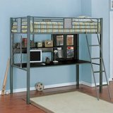 Boys standard twin size loft bed in Minneapolis, Minnesota