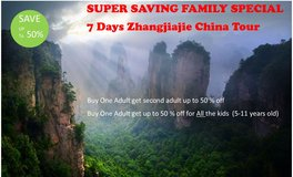 LAST Summer Special:  All Inclusive Package to Zhangjiajie, China in Okinawa, Japan