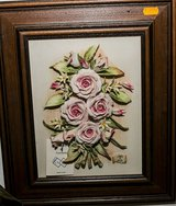 CAPODIMONTE FRAMED PORCELAIN FLOWERS in Ramstein, Germany