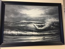 Seascape Painting, Framed Reduced in Lakenheath, UK